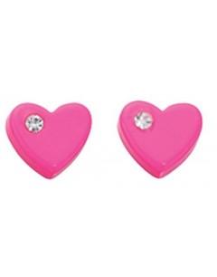 My-jewelry - D873uk - Sterling silver pink heart earring