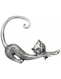 Pin cat in 925/1000 silver