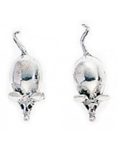 Earring mouse in 925/1000 silver