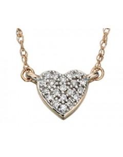 Diamond necklace Gold 14 carat