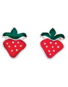 Earring strawberries in 925/1000 silver