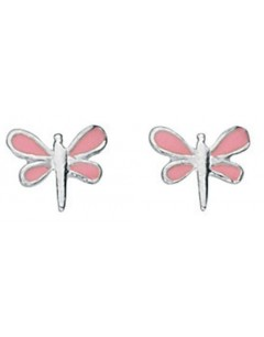 My-jewelry - D827uk - Sterling silver pink dragonfly earring