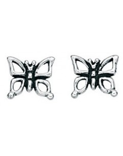 My-jewelry - D831uk - Sterling silver butterfly earring