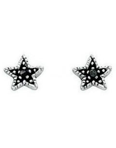 Earring-star in 925/1000 silver