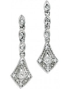 Earring diamond white Gold 375/1000