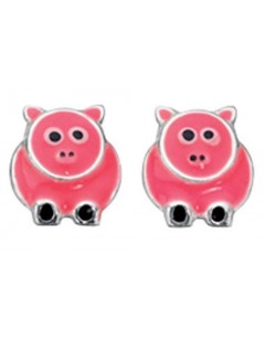 My-jewelry - D880uk - Sterling silver pigs earring