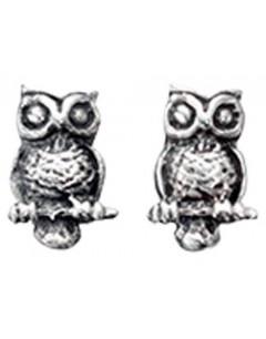 Earring owl in 925/1000 silver