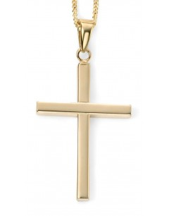 My-jewelry - D942auk - 9k cross Gold necklace