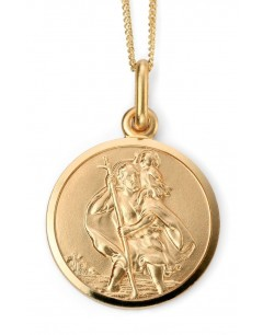 My-jewelry - D968uk - 9k saint Christopher Gold necklace