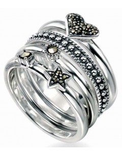 My-jewelry - D2748uk - Sterling silver chic marcassite ring