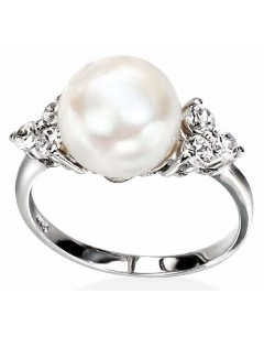 My-jewelry - D2917uk - Sterling silver pearl and zircinia ring